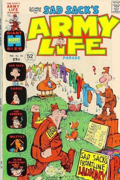 Cover for Sad Sack's Army Life Parade (Harvey, 1963 series) #50