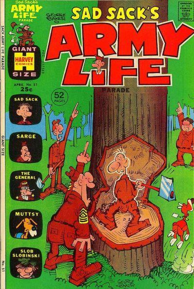 Cover for Sad Sack's Army Life Parade (Harvey, 1963 series) #51