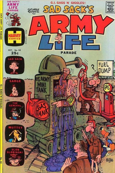 Cover for Sad Sack's Army Life Parade (Harvey, 1963 series) #54