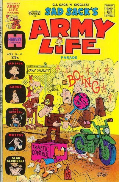 Cover for Sad Sack's Army Life Parade (Harvey, 1963 series) #57