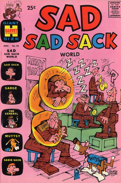 Cover for Sad Sad Sack World (Harvey, 1964 series) #24