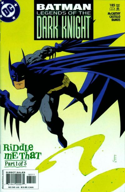 Cover for Batman: Legends of the Dark Knight (DC, 1992 series) #185