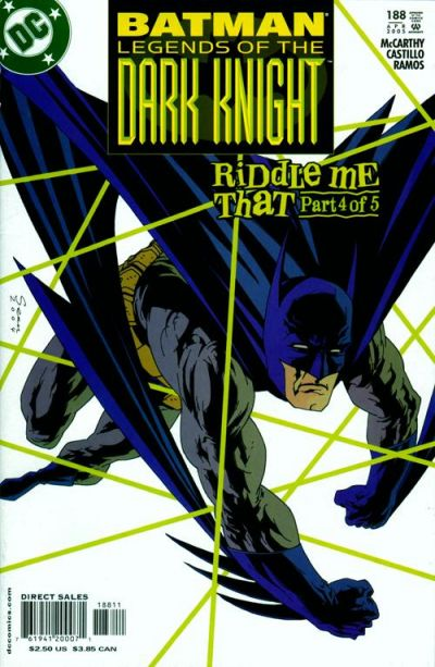 Cover for Batman: Legends of the Dark Knight (DC, 1992 series) #188