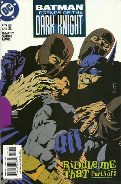 Cover for Batman: Legends of the Dark Knight (DC, 1992 series) #189