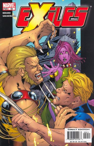 Cover for Exiles (Marvel, 2001 series) #59 [Direct Edition]