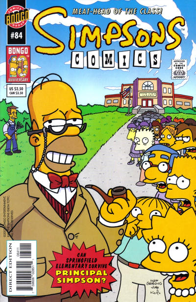 Cover for Simpsons Comics (Bongo, 1993 series) #84