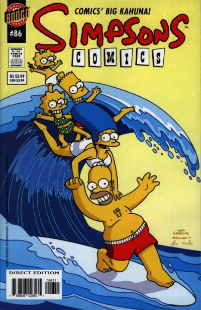 Cover for Simpsons Comics (Bongo, 1993 series) #86