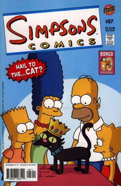 Cover for Simpsons Comics (Bongo, 1993 series) #87