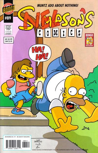 Cover for Simpsons Comics (Bongo, 1993 series) #89