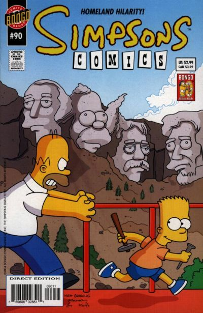 Cover for Simpsons Comics (Bongo, 1993 series) #90