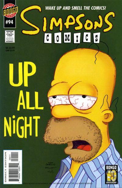 Cover for Simpsons Comics (Bongo, 1993 series) #94