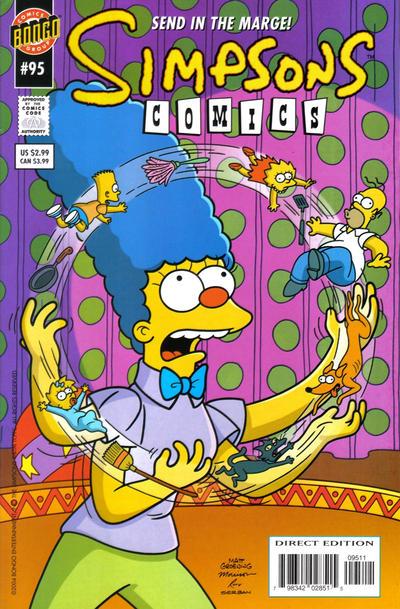Cover for Simpsons Comics (Bongo, 1993 series) #95