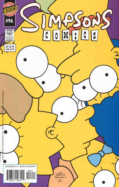 Cover for Simpsons Comics (Bongo, 1993 series) #96