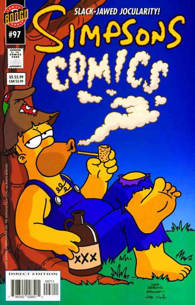 Cover for Simpsons Comics (Bongo, 1993 series) #97