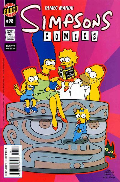 Cover for Simpsons Comics (Bongo, 1993 series) #98