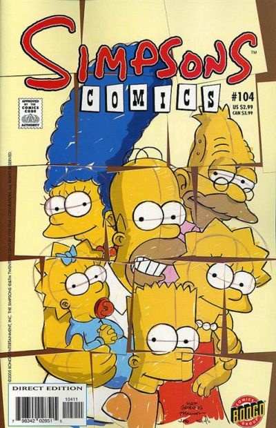 Cover for Simpsons Comics (Bongo, 1993 series) #104