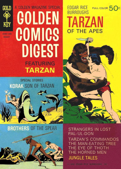 Cover for Golden Comics Digest (Western, 1969 series) #4