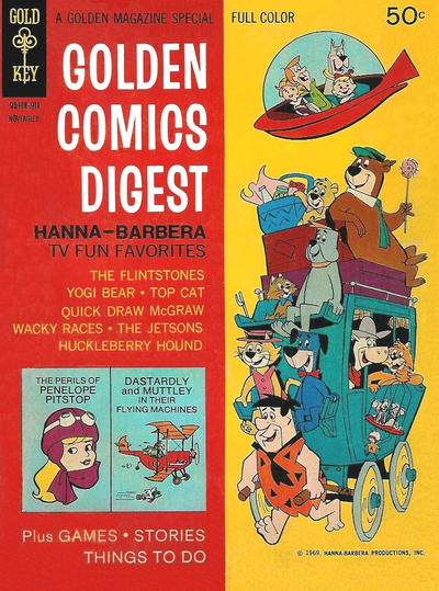 Cover for Golden Comics Digest (Western, 1969 series) #7