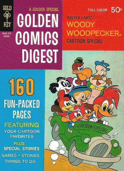 Cover for Golden Comics Digest (Western, 1969 series) #16