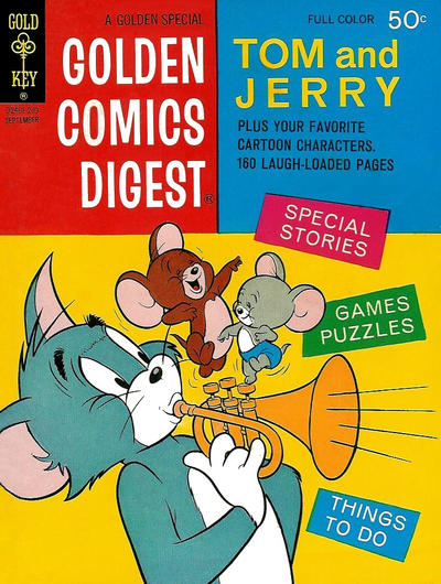 Cover for Golden Comics Digest (Western, 1969 series) #25