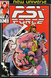 Cover Thumbnail for Psi-Force (Marvel, 1986 series) #3 [Direct]