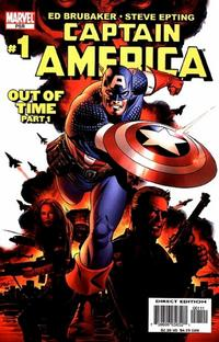 Cover Thumbnail for Captain America (Marvel, 2005 series) #1 [Direct Edition]