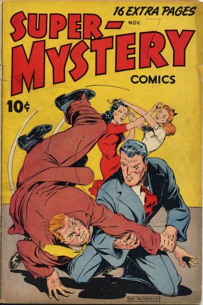 Cover for Super-Mystery Comics (Ace Magazines, 1940 series) #v7#2
