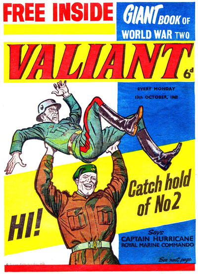 Cover for Valiant (IPC, 1962 series) #13 October 1962 [2]
