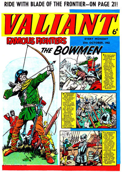 Cover for Valiant (IPC, 1962 series) #27 October 1962 [4]