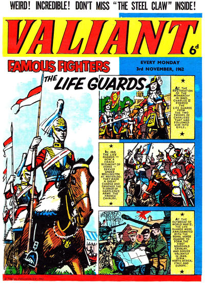 Cover for Valiant (IPC, 1962 series) #3 November 1962 [5]