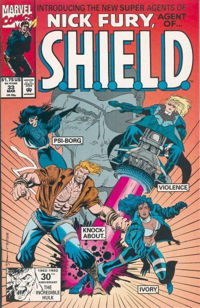 Cover for Nick Fury, Agent of S.H.I.E.L.D. (Marvel, 1989 series) #33