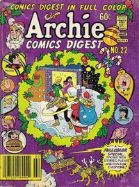 Cover Thumbnail for Archie Comics Digest (Archie, 1973 series) #22
