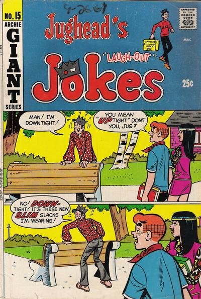Cover for Jughead's Jokes (Archie, 1967 series) #15