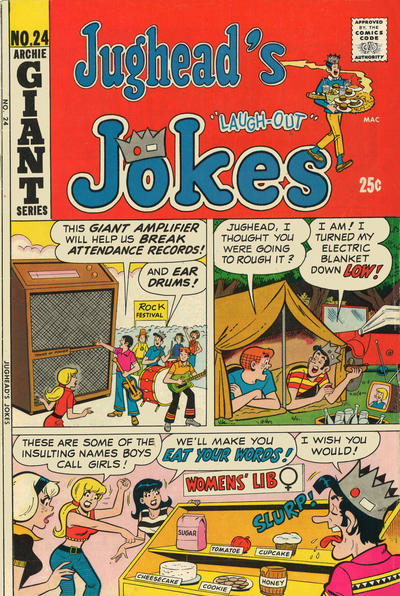 Cover for Jughead's Jokes (Archie, 1967 series) #24
