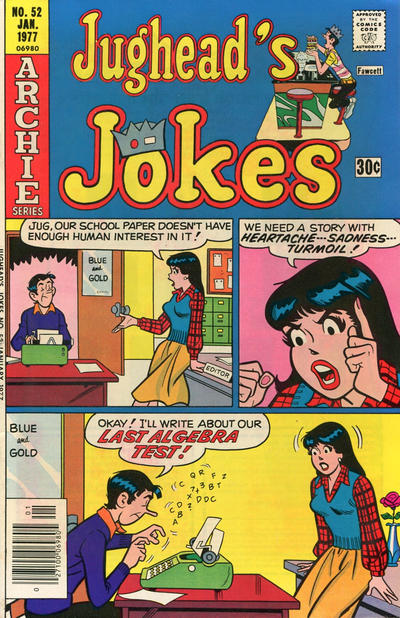 Cover for Jughead's Jokes (Archie, 1967 series) #52