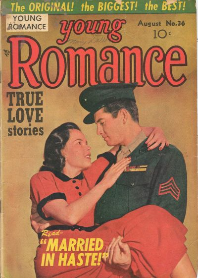 Cover for Young Romance (Prize, 1947 series) #v4#12 (36)