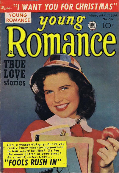 Cover for Young Romance (Prize, 1947 series) #v7#6 (66)