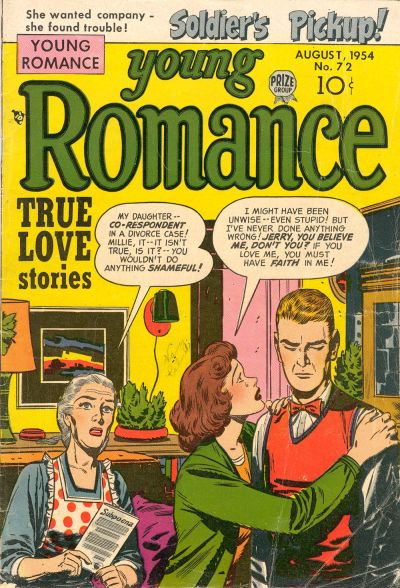 Cover for Young Romance (Prize, 1947 series) #v7#12 (72)