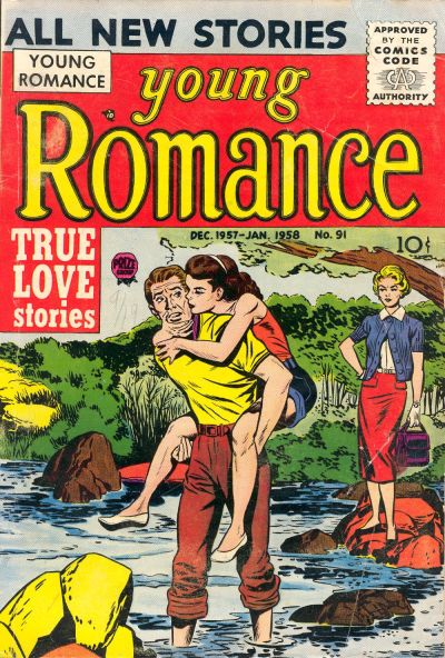 Cover for Young Romance (Prize, 1947 series) #v11#1 (91)