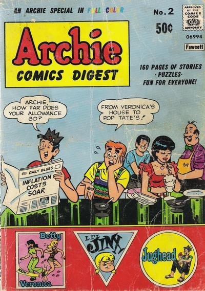 Cover for Archie Comics Digest (Archie, 1973 series) #2