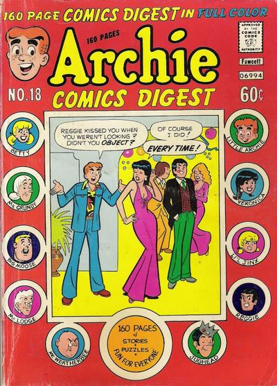 Cover for Archie Comics Digest (Archie, 1973 series) #18