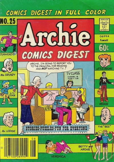 Cover for Archie Comics Digest (Archie, 1973 series) #25