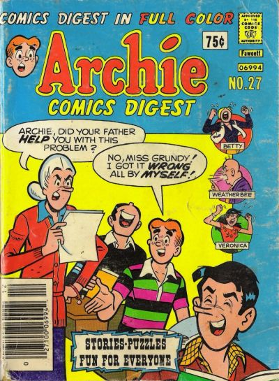 Cover for Archie Comics Digest (Archie, 1973 series) #27