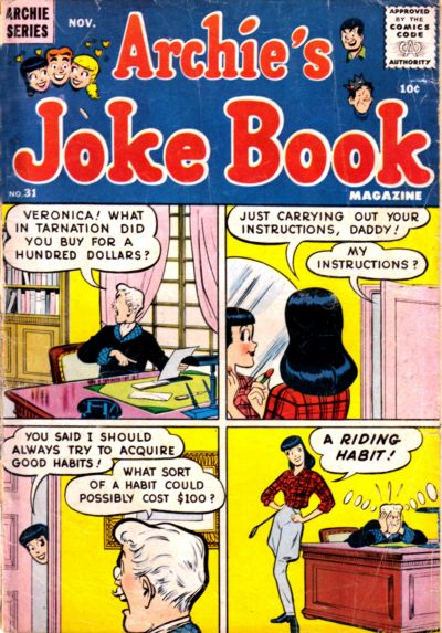 Cover for Archie's Joke Book Magazine (Archie, 1953 series) #31