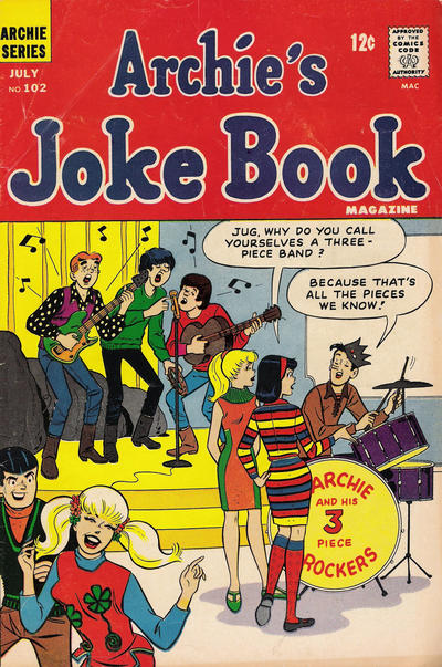 Cover for Archie's Joke Book Magazine (Archie, 1953 series) #102
