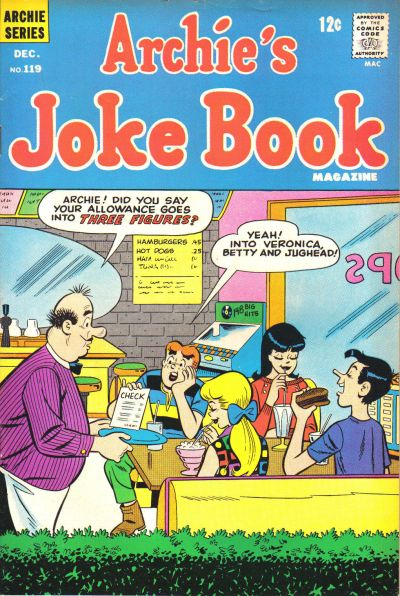 Cover for Archie's Joke Book Magazine (Archie, 1953 series) #119