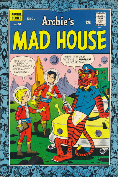 Cover for Archie's Madhouse (Archie, 1959 series) #51