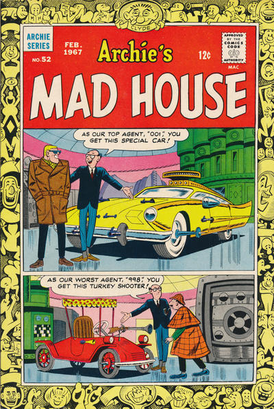 Cover for Archie's Madhouse (Archie, 1959 series) #52