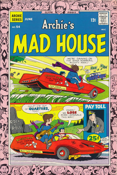 Cover for Archie's Madhouse (Archie, 1959 series) #54