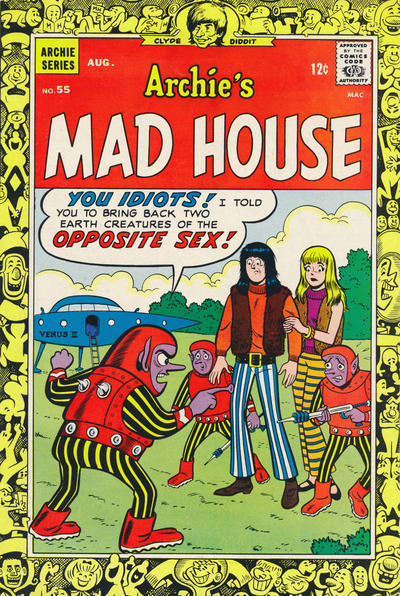 Cover for Archie's Madhouse (Archie, 1959 series) #55